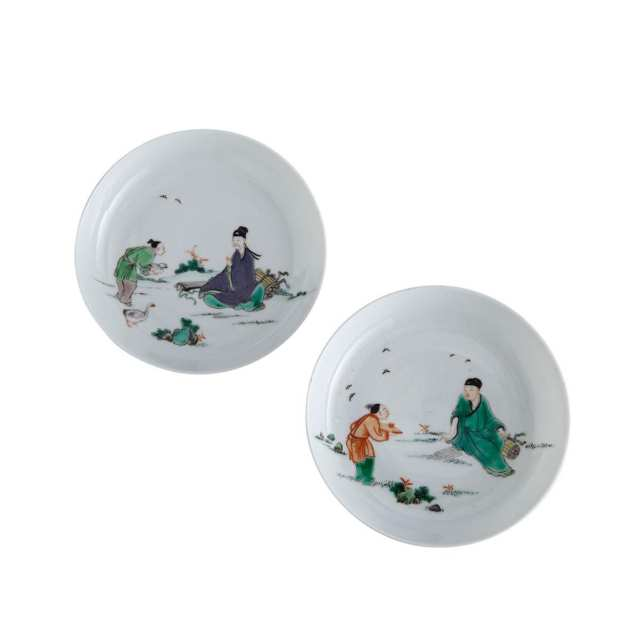 Pair of Famille Verte Dishes, 18th/19th Century
