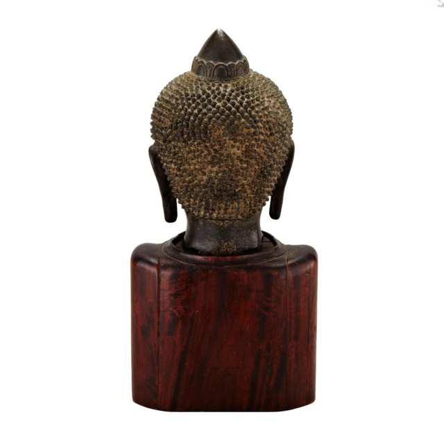 Bronze Buddha Head, Burma, 18th/19th Century
