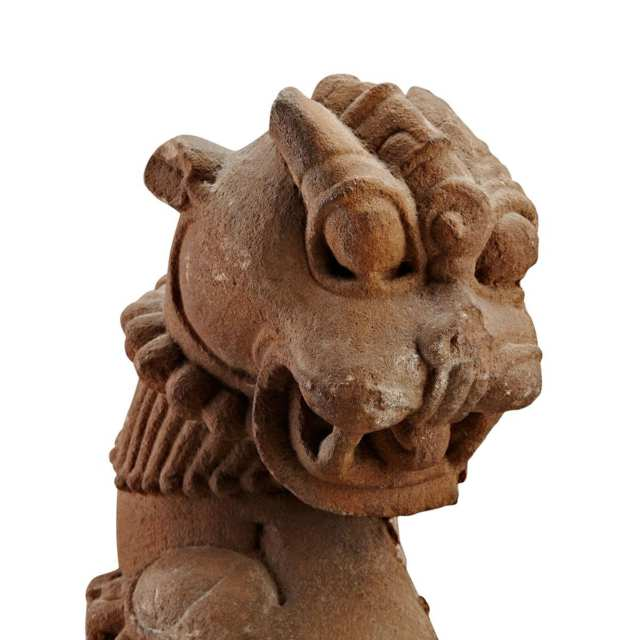 Red Sandstone Lion and Elephant Group, South Asia, 11th to 14th Century