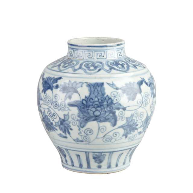 Blue and White Lotus Guan, 16th/17th Century