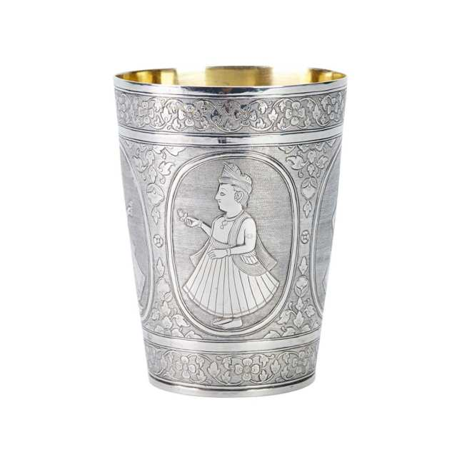 Indian Silver 'Figural' Cup, 19th Century