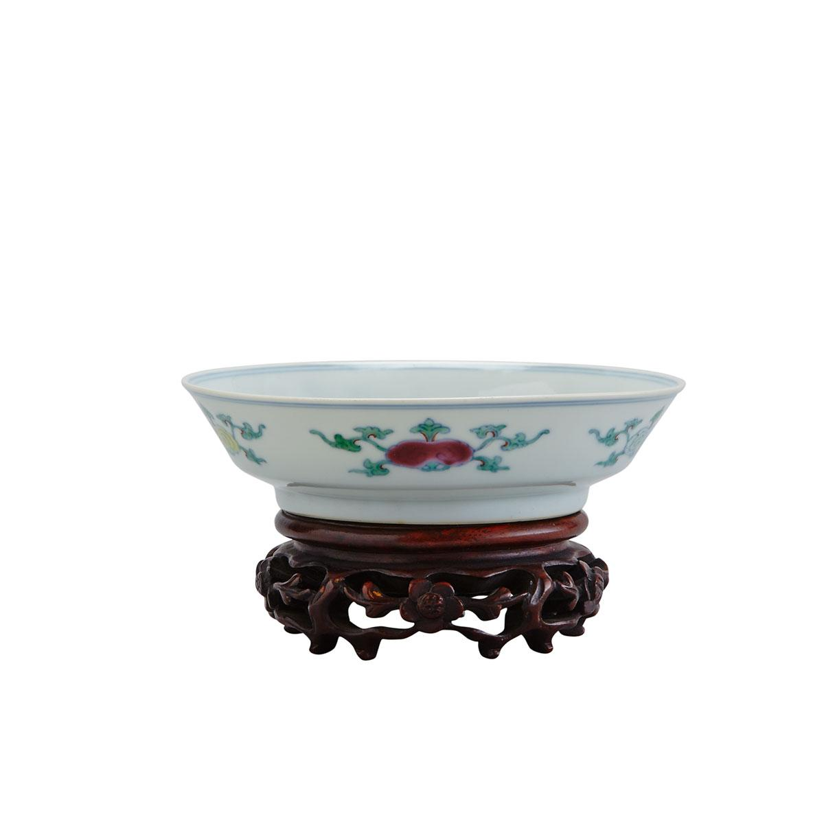 Small Doucai Saucer Dish, Yongzheng Mark