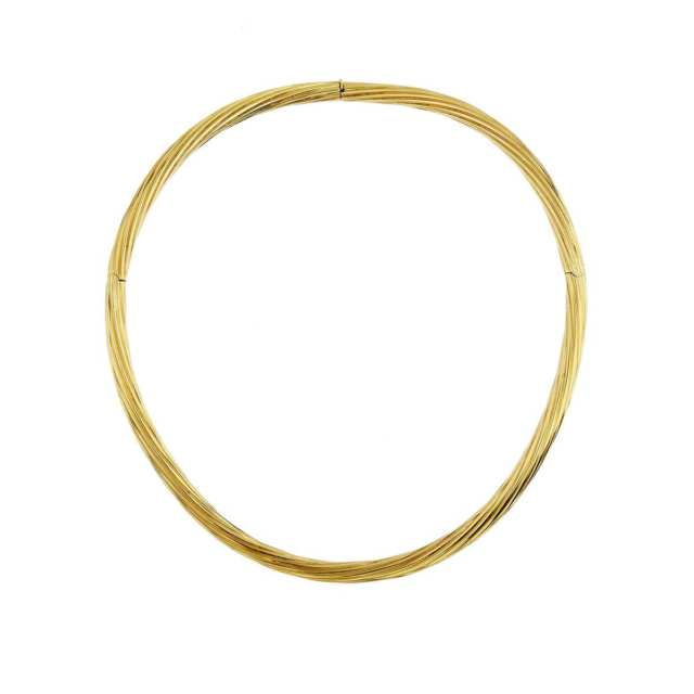 18k Yellow Gold Hinged Collar Necklace