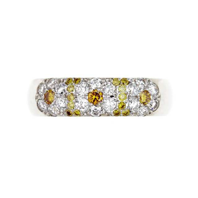 18k Yellow And White Gold Ring