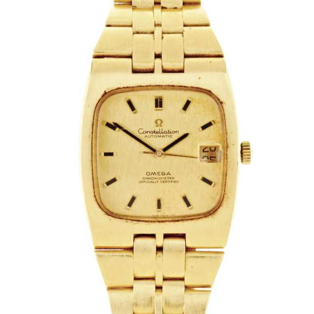 Men's Omega Constellation Automatic Wristwatch, With Date;