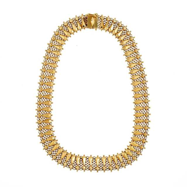 Italian 18k Yellow Gold Mesh Necklace