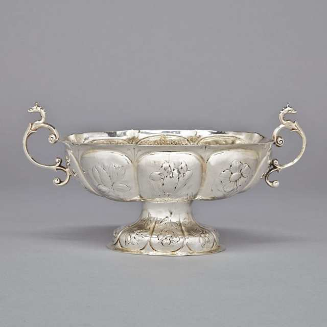 Dutch Silver Oval Brandy Bowl, probably Arent Hamminck, Groningen, 1671-72