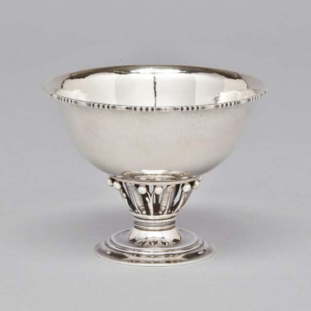 Danish Silver 'Louvre' Footed Bowl, #180B, Georg Jensen, Copenhagen, c.1927