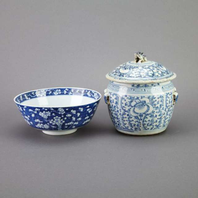 Two Blue and White Porcelain Wares, Circa 1900
