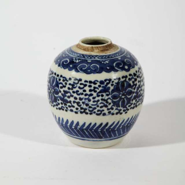 Blue and White Ginger Jar, 19th Century