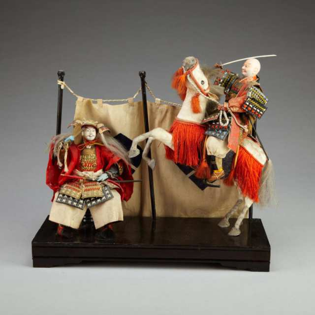 Boys' Day Ningyo of Takeda Shingen and General Yamamoto Kansuke, 19th Century