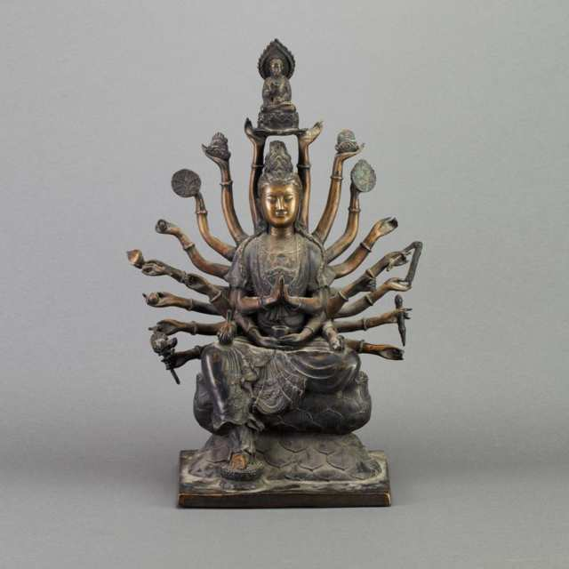 Large Bronze Figure of Guanyin