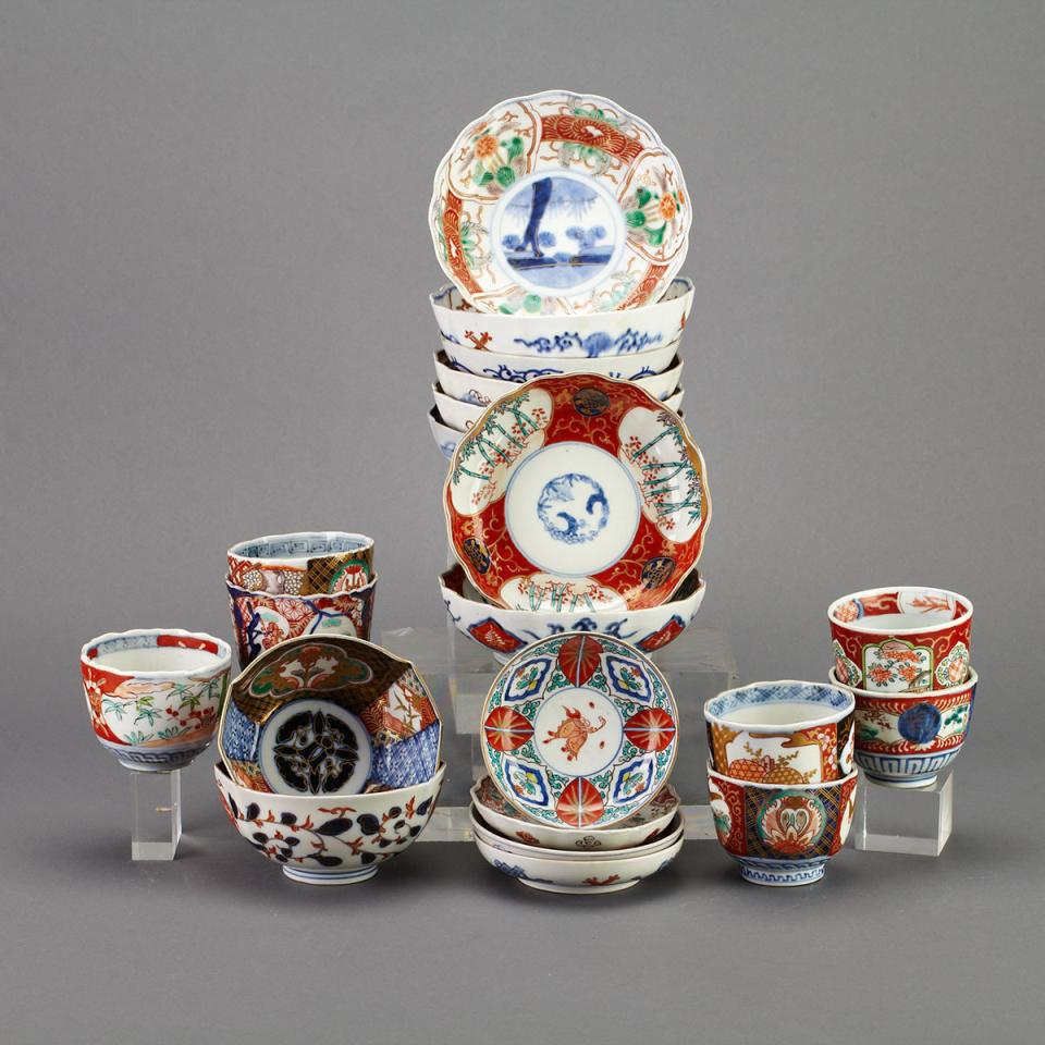 Group of 21 Imari Porcelain Pieces