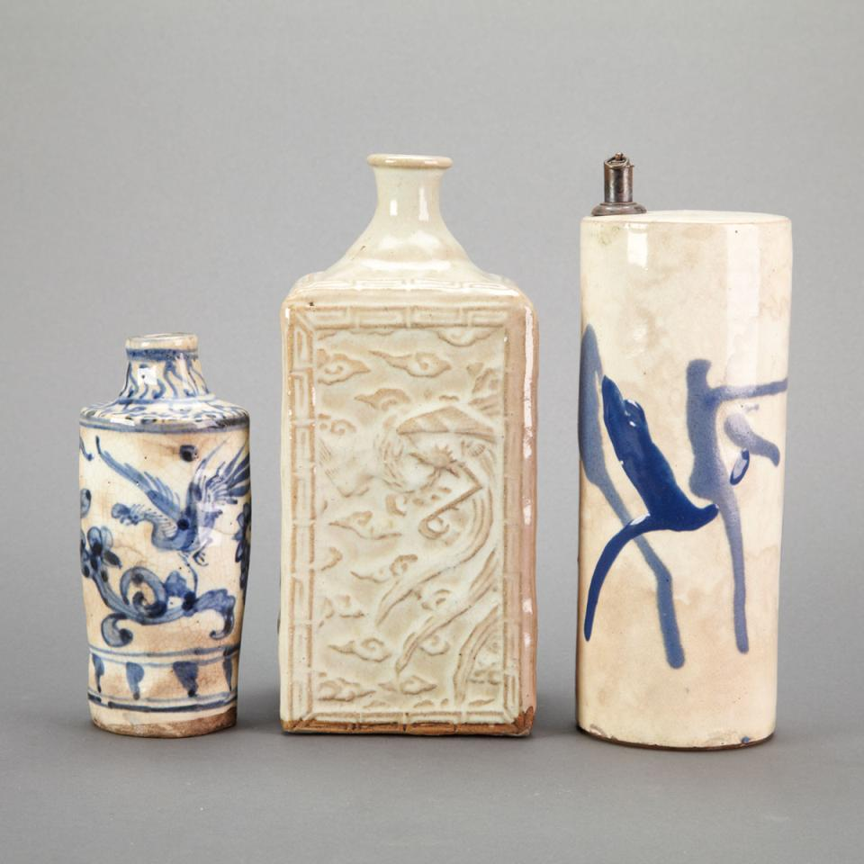 Two Blue and White Vessels, Japan, 19th Century