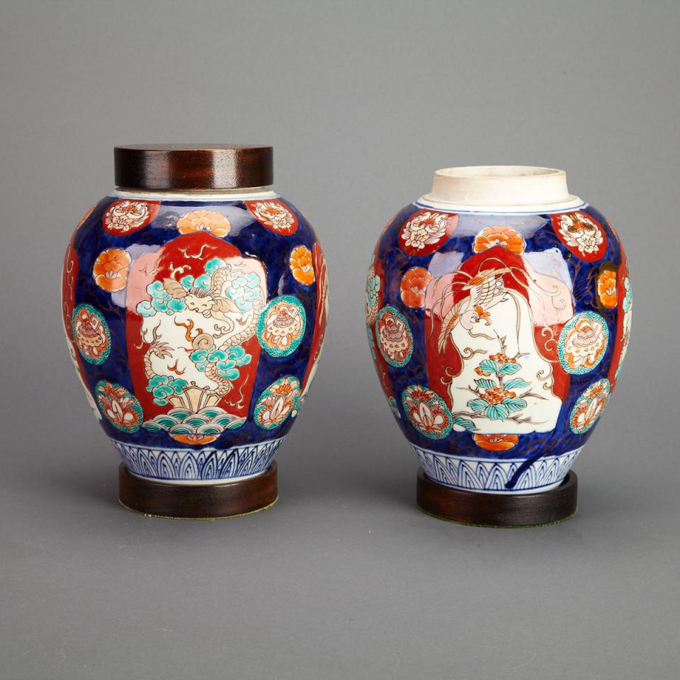 Pair of Imari Ginger Jars, Circa 1900