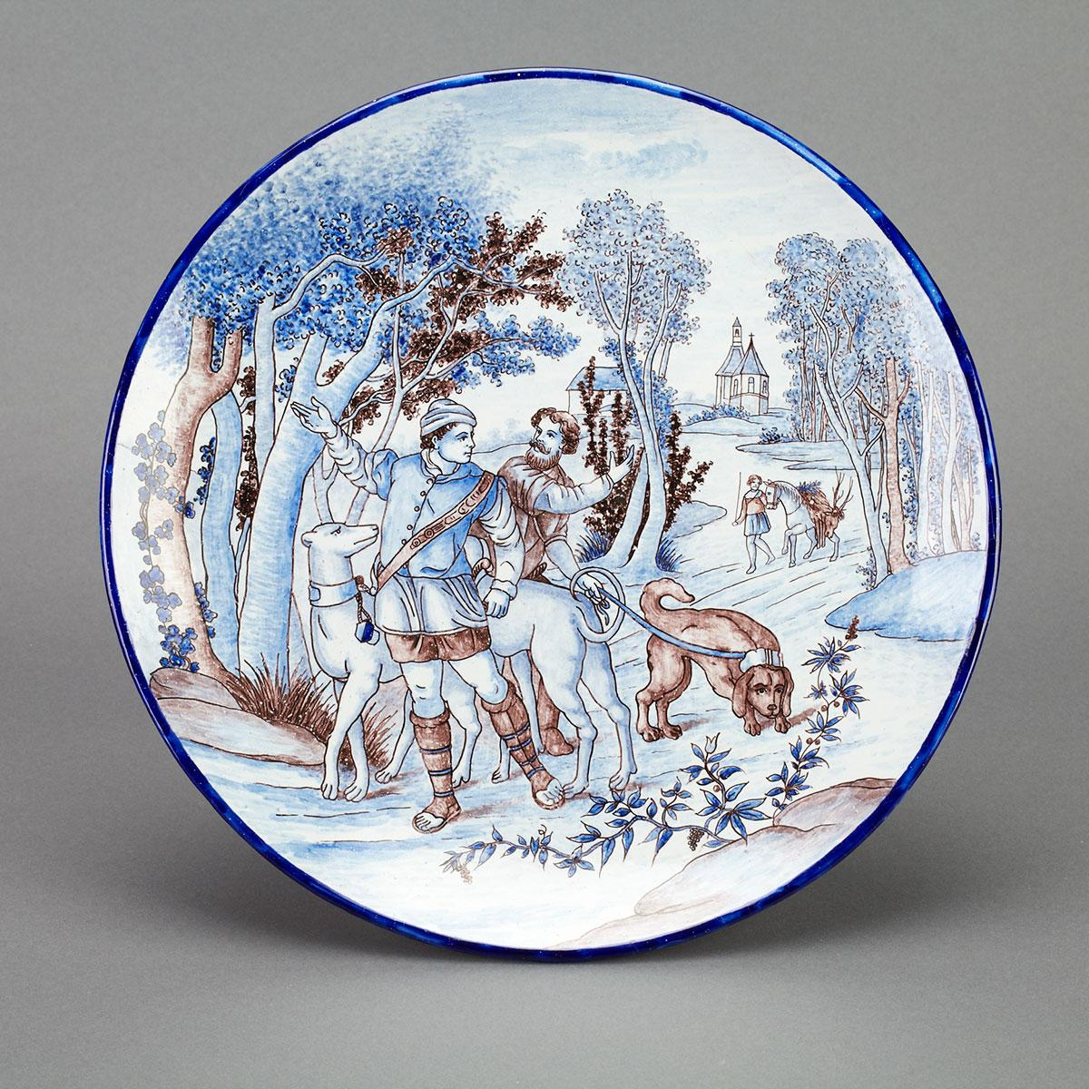 Nevers Faience Charger, Gabriel Montagnon, 1899-1937