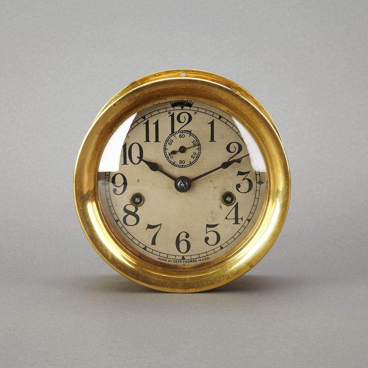 Seth Thomas Brass Marine Chronometer, 19th century