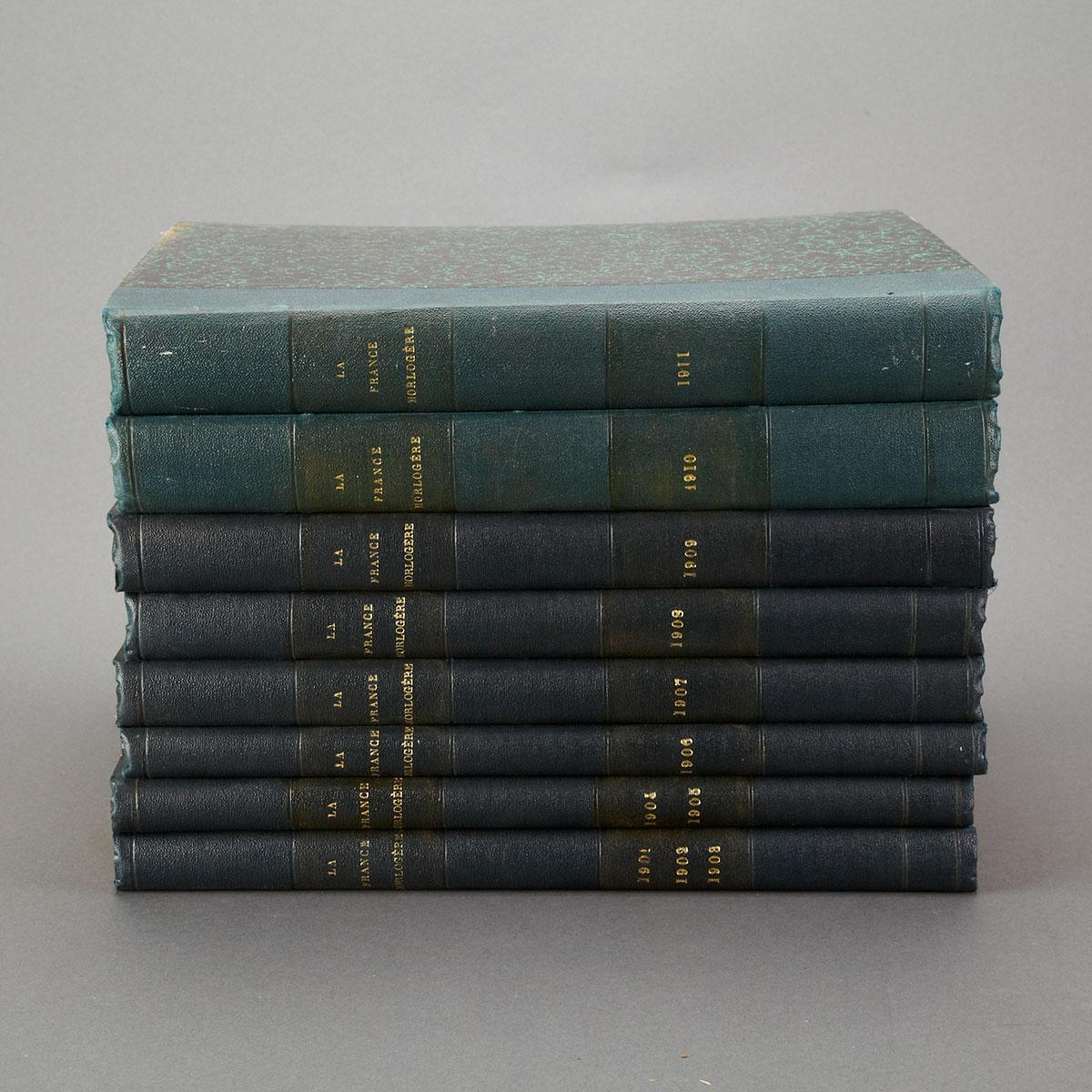 La France Horlogère, 1901-1911 Inclusive, Bound in Eight Volumes