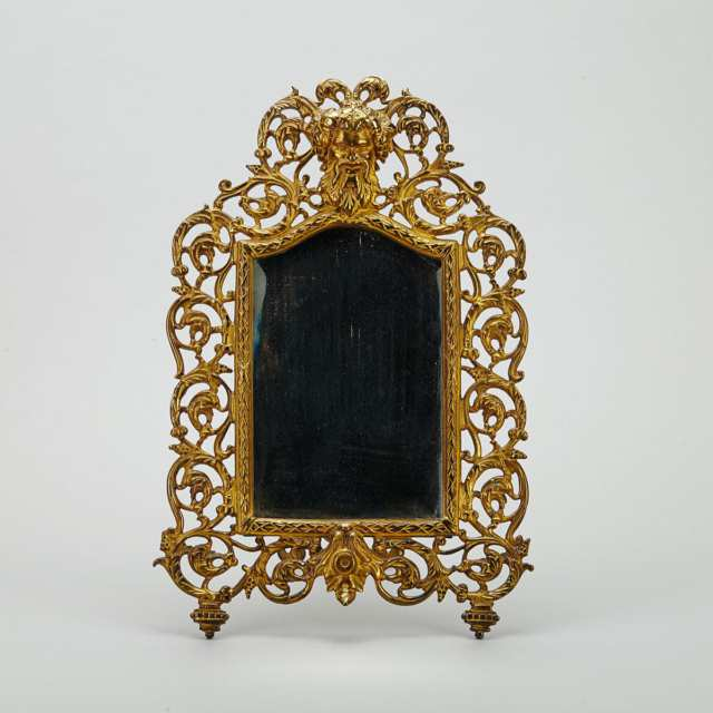Bradley & Hubbard Gilt Cast Iron Easel Mirror, late 19th century