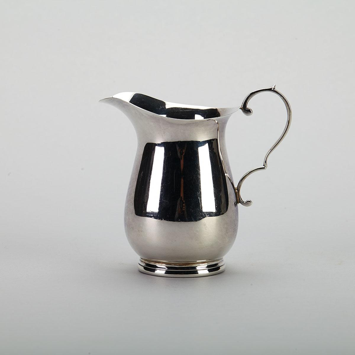 English Silver Cream Jug, William Hutton & Sons, Sheffield, 1938