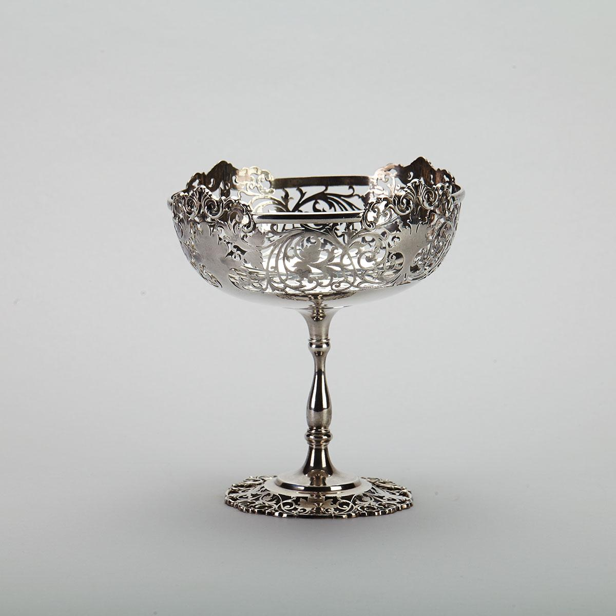 English Silver Footed Comport, Mappin & Webb, Sheffield, 1919