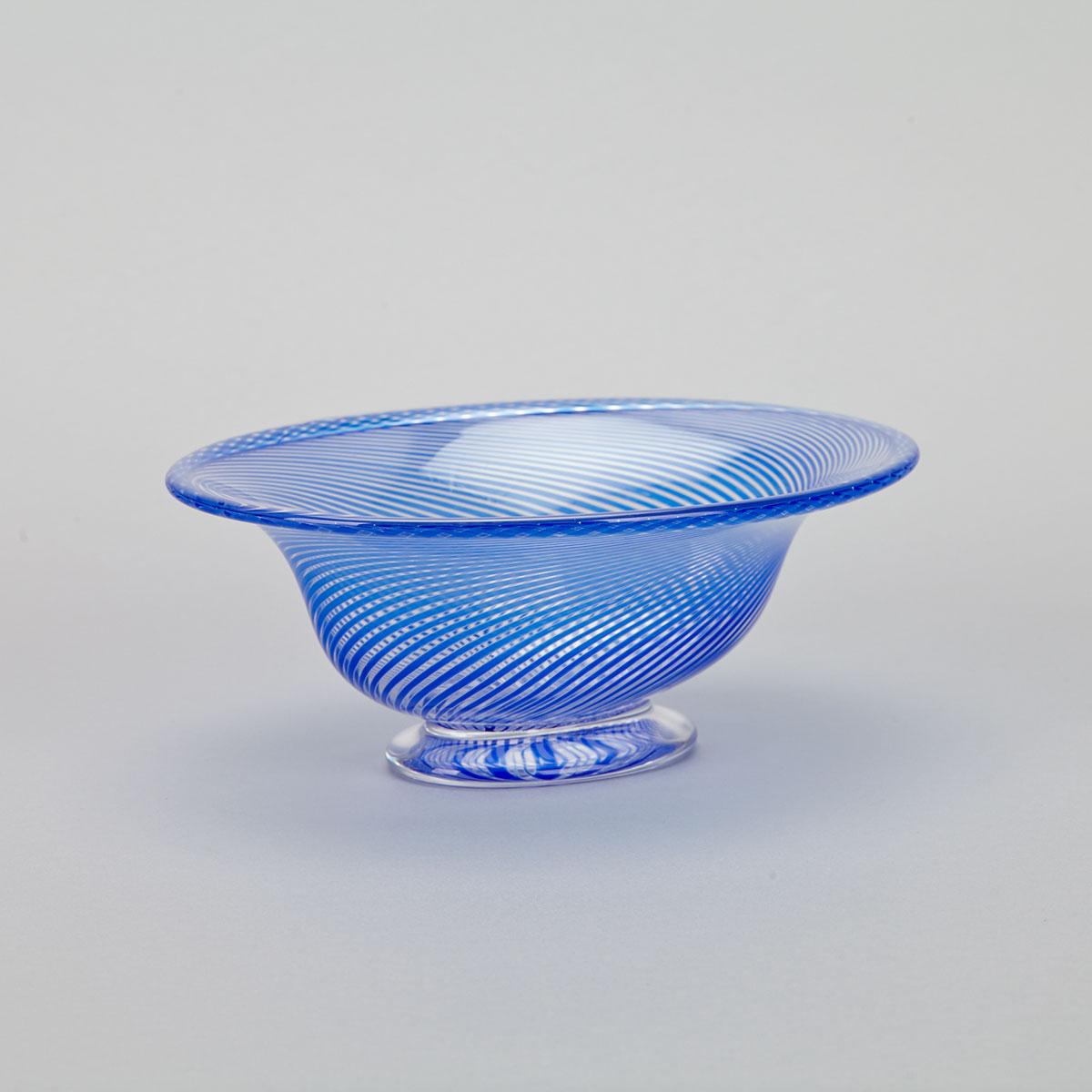 Orrefors Graal Glass Oval Bowl, Edward Hald, mid-20th century