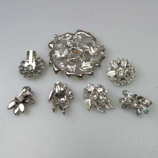 Seven Pieces Of Silver Tone Metal Jewellery