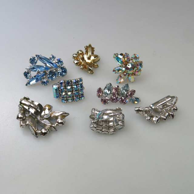 Four Pairs Of Sherman Metal Earrings