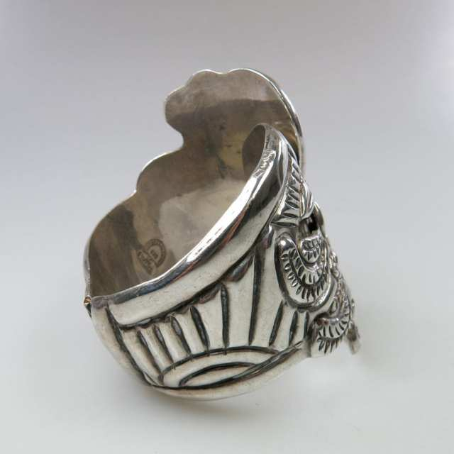 Mexican Sterling Silver Spring Hinged Cuff Bangle
