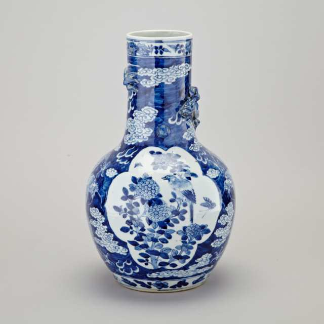 Blue and White Dragon Vase, Early 20th Century