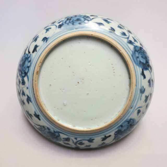 Blue and White Plate, Ming Dynasty, 16th/17th Century