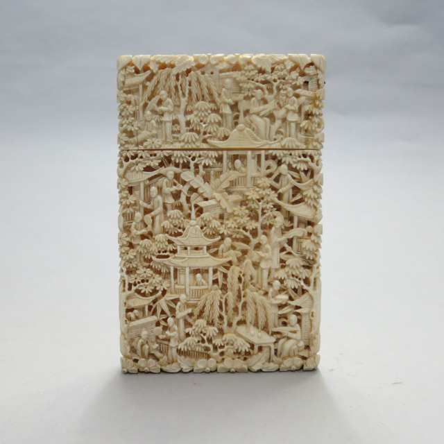 Export Ivory Card Case, 19th Century