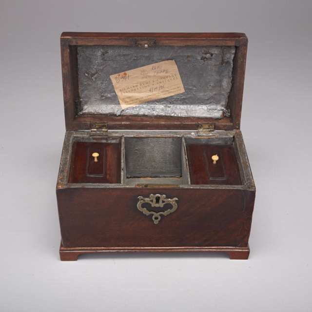 Georgian Mahogany Tea Caddy, 18th century