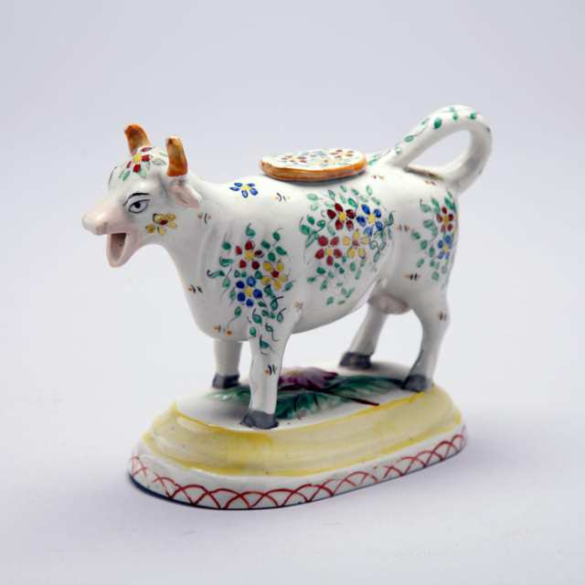 Staffordshire Porcelain Cow Creamer, 19th century