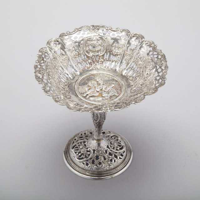 German Silver Small Pedestal Footed Comport, Simon Rosenau, Bad Kissingen, early 20th century
