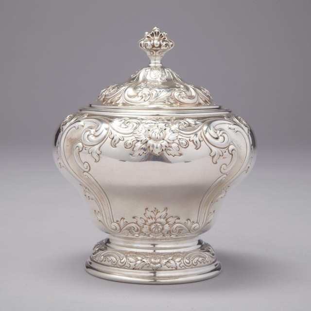 Canadian Silver Covered Sugar Bowl, Henry Birks & Sons, Montreal, Que., early 20th century