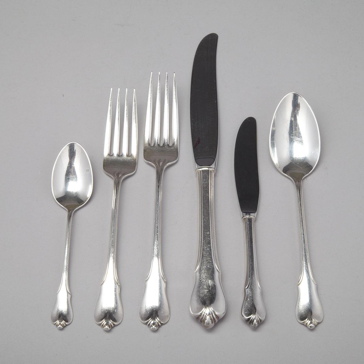 American Silver 'Grand Colonial' Pattern Flatware Service, Wallace Silversmiths, Wallingford, Ct., 20th century