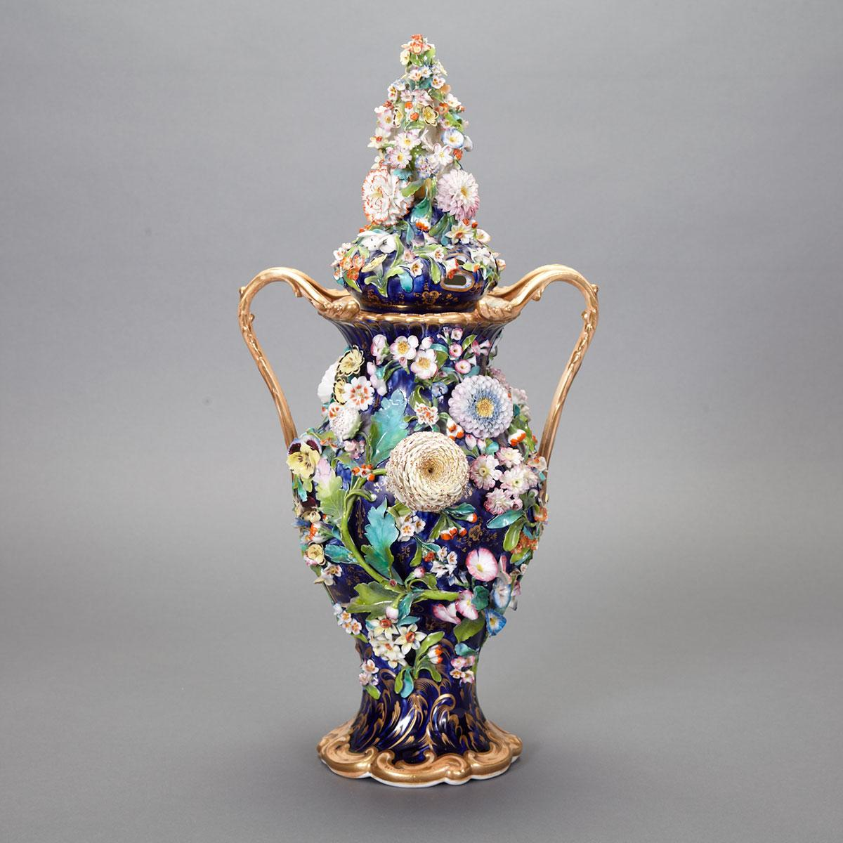 Coalbrookdale Style Two-Handled Vase and Cover, mid-19th century