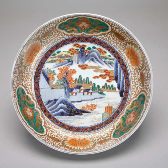 Large Imari Bowl, Meiji Period, 19th Century