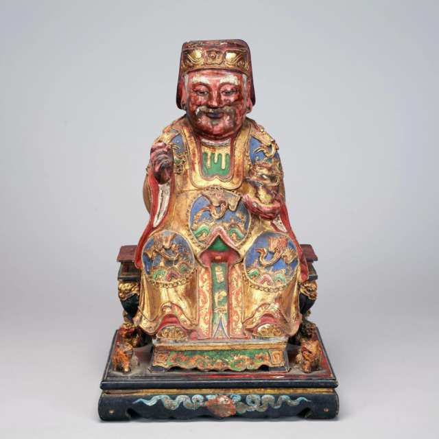 Gilt Polychromed Wood Ancestor Figure