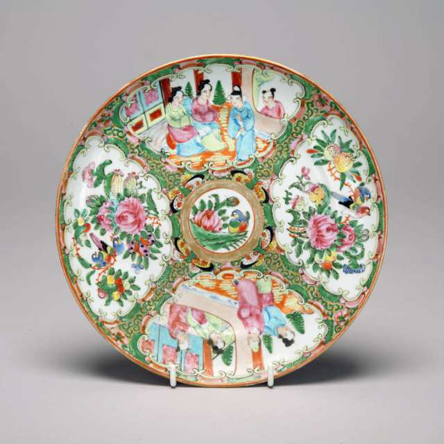 Export Canton Rose Dish, 19th Century