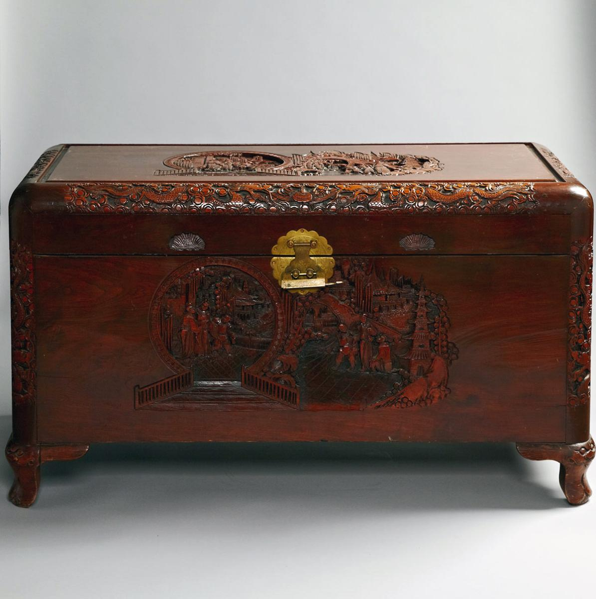 Camphorwood Storage Chest, Mid-20th Century