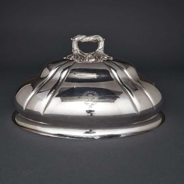 Old Sheffield Plate Oval Meat Dish Cover, Matthew Boulton, c.1830