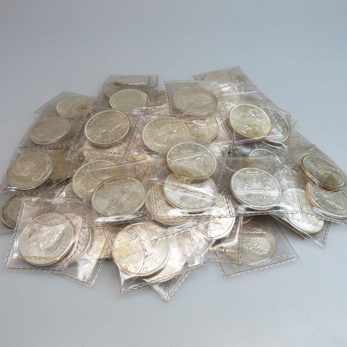 85 Various Canadian Silver Dollars