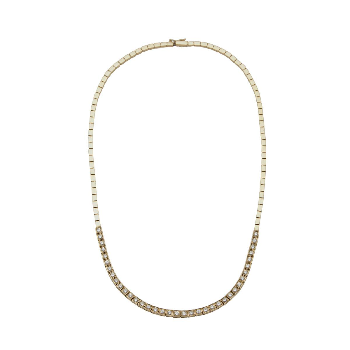 14k Yellow Gold Straightline Necklace And Bracelet
