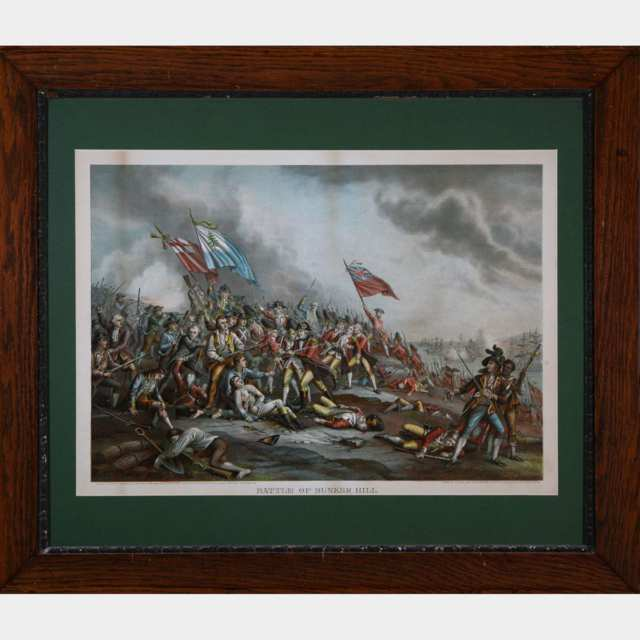Five Victorian Lithographs of Battle Scenes, 19th century