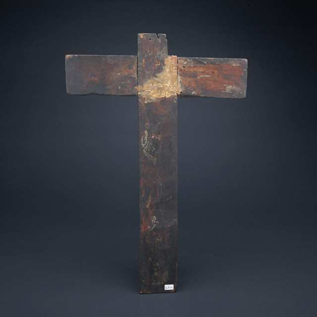 Spanish Colonial Polychromed Crucifix, 18th century or earlier
