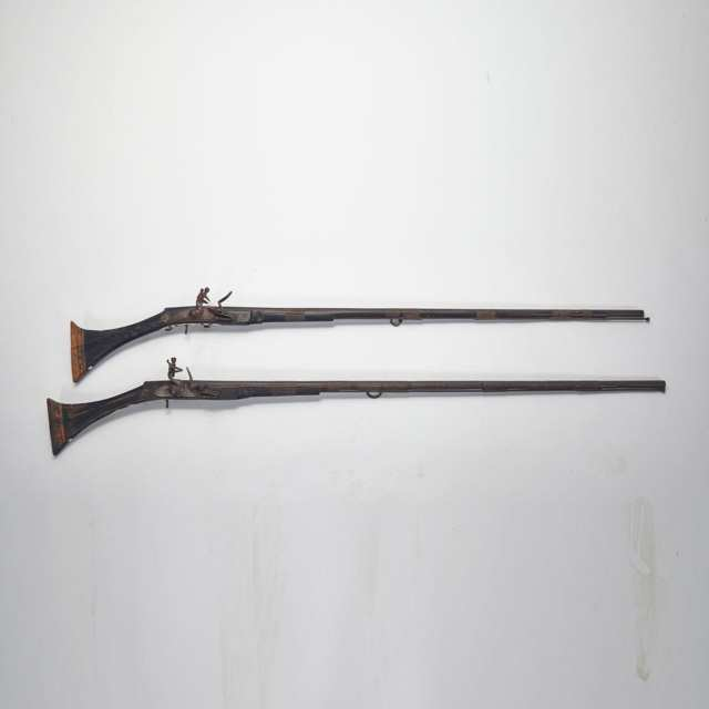 Two North African Flintlock Muskets, 19th century