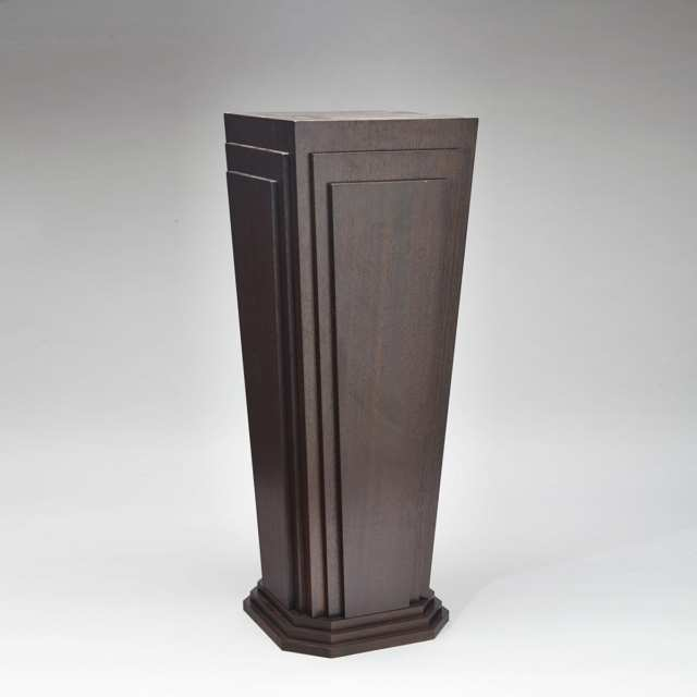 Art Deco Style Mahogany Pedestal Stand, late 20th century