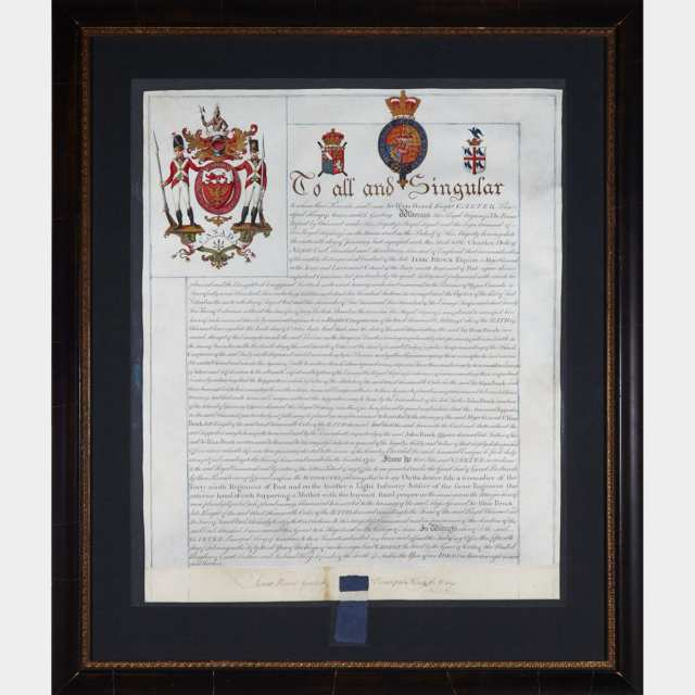Military Order of the Bath to Sir Isaac Brock, January 16th, 1813